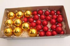 bolas para árbol de Navidad Amarillo Rojo