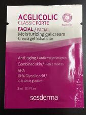20 SAMPLES SESDERMA ACGLICOLIC CLASSIC FORTE GEL CREAM  3ml  TOTAL 2.0 fl.oz