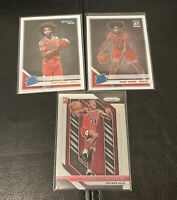 2019-20 Coby White Optic 2018-19 Prizm Wendell Carter Jr Rookie RC Lot Of 3