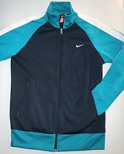 Youth Large (13-15) NIKE Navy Blue & Turquoise Zip-Down Jacket