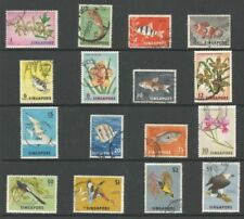 Elizabeth II (1952-Now) Cats Singapore Stamps (1824-1963)