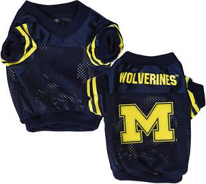 Sporty K-9 NCAA Michigan Wolverines Football Dog Jersey