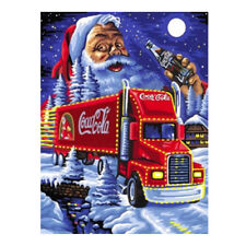 Art-Full Drill Snow Santa Truck 5D Diamond Painting Cross Stitch Xmas Craft Kit