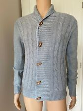 Ted Baker Mens Cardigan Size 2 Light Blue Knit Button Up Sweater S Small 19""