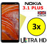 3x HQ ULTRA CLEAR HD SCREEN PROTECTOR COVER FILM SAVER GUARDS FOR NOKIA 3.1 Plus