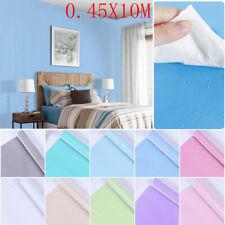 Plain Self Adhesive Pvc Bedroom Kitchen Wall Sticker Wallpaper Modern Home Decor