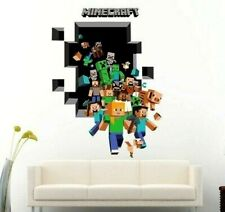 Wall Stickers Cartoon 3D Minecraft Game Sticker for Kids Room home decor