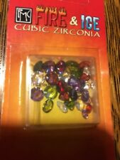 PMC3 Precious metal  Clay fire and ice cubic Zirconia 30 assorted Cuts And Sizes
