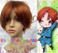Axis Powers Hetalia APH ITALY Short Light Brown Cosplay Wig + Free wig cap A170
