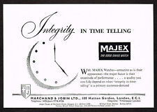 1950's Vintage 1957 Marchand Jobin - Majex Watch Co. - Paper Print AD