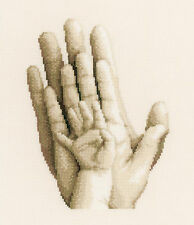 "Cross Stitch Kit ~ Vervaco Mom, Dad and Baby Family ""Hands"" #PN-0154230"