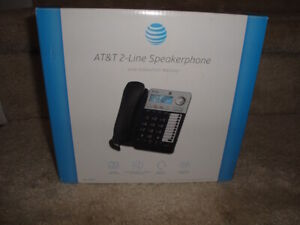MIB AT&T 2-Line Speakerphone With Caller/Call Waiting !!