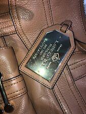 NEW Ralph Lauren Womens Pocket Front Double Strap Tote Handbag Tan Leather