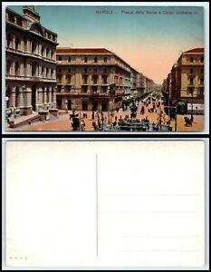ITALY Postcard - Naples, Piazza della Borsa e Corso Umbero N20