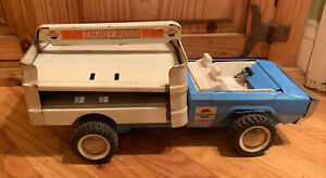 """VINTAGE 1960s BUDDY-L PRESSED-STEEL PEPSI-COLA Delivery TRUCK 15"""" LONG"""
