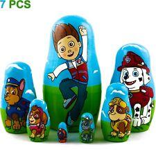 PAW Patrol Characters Matryoshka Russian Nesting Doll Wooden Toys 7 Pcs