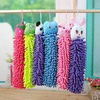 Kitchen Hanging Towels Chenille Hand Face Wipe Towel Animal Bathroom JCAU