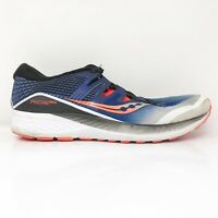 Saucony Mens Ride ISO S20444-35 Gray Blue Running Shoes Lace Up Size 10.5
