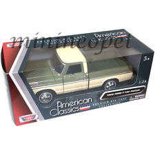 MOTORMAX  79315 1969 69 FORD F-100 PICK UP TRUCK 1/24 DIECAST CREAM / GREEN