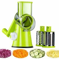 Manual Round Mandoline Slicer Shredder Rotary Cheese Grater Vegetable Cutter