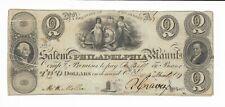 1829 $2 New Jersey Salem Philadelphia Bank Gutter Misprint ERROR Serial #208