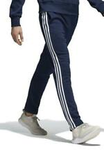 Adidas Mens Essential 3S Track Pant Fleece Navy/WHITE
