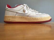 Rare ~ Nike Air Jordans White & Red Leather Boys Girls Sneaker Shoes Sz 4.5 Y ~