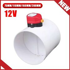Plastic Motorized Air Valve HVAC Electric Damper Duct Solenoid Check 75mm-200mm