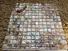Hot Colorful Square Shell Mosaic Shower Tile Kitchen Backsplash Tiles Wall Floor