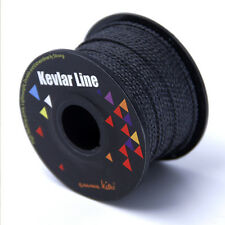 100ft 300lb Black Braided Kevlar Line for Kite Flying Fishing Trecking Hiking