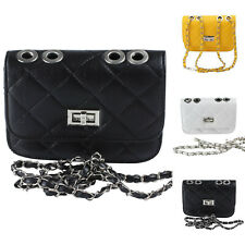 Women Ladies PU Leather Handbag Messenger Bag Shoulder Bag Black White Yellow