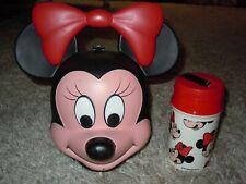 Vintage Aladdin Minnie Mouse Head Lunchbox w/ Thermos1980's Walt Disney mickey