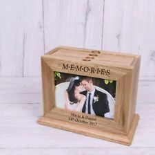 Personalised Wooden 6x4 Memories Photo Album Box Wedding Valentine's Gift