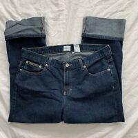 Womens Calvin Klein Jeans Cuffed Jeans Dark Wash Size 12