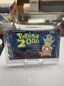 1x Pokemon The Movie 2000 Topps Sealed Unopened Booster Slowking Art