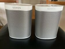 Pair of Sonos PLAY:1 Compact Wireless Speaker - White - Free shipping!