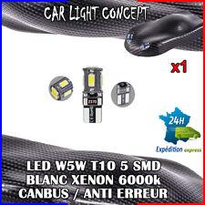 1 x ampoule veilleuse Feu  LED W5W T10 BLANC XENON 6000k voiture auto moto 5 smd