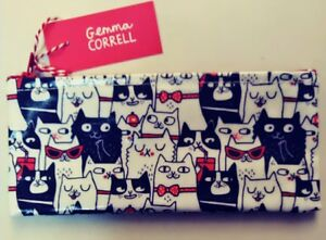 Ohh Deer Cat Lover Pencil Case - Gemma Cornell Cat Lover Stocking Stuffer New
