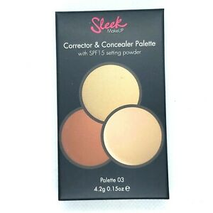 Sleek Corrector Concealer SPF 15 Setting Powder Palette 03 #357 2-Pack