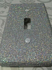 Silver Holographic Glitter ~ Bling Light Switch Plates & Outlet Covers ~ Unicorn