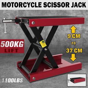 1100lb Motorcycle Scissor Lift Stand 500KG Motorbike Lift Working Bench ATV Jack