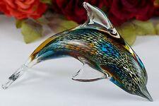 Delfin Glas Figur Glasfigur Skulptur Kristallglas Murano Fisch Delphin Deko Neu