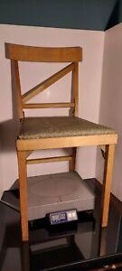 Vintage Mid Century Leg-O-Matic Folding Wood Chair Legomatic Camper RV Airstream