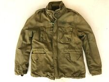 NWT Abercrombie Fitch military B-W223776 fleece liner distressed jacket mens M/L