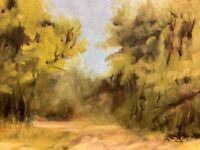 DAVID WESLEY POE impressionist original landscape OIL PAINTING signed 9x12