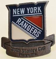 New York Rangers 2009 Stanley Cup Playoffs Enamel Lapel Hat Pin MSG NHL Hockey