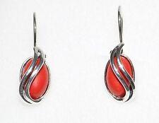 925 Silber Ohrringe mit Koralle - Unikat! TOP! - Beste Preis beim Hersteller !!!