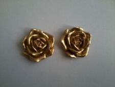 Resina Decorativa Stampaggio-fiori/floreale-rose (Coppia) Oro dipinto a colori