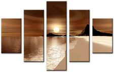 5 Panel Total Size 115x80cm Large Canvas Wall Digital Art Print TUBE