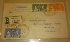 R Singapore Straits Settlement Queen Elizabeth King George Coronation 1937 FDC
